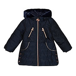 Baker by Ted Baker - Girls' navy padded shower resistant coat