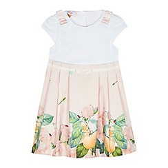 Baker by Ted Baker - 'Girls' light pink floral print dress