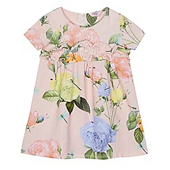 Baker by Ted Baker - 'Girls' pink floral print ruffle dress
