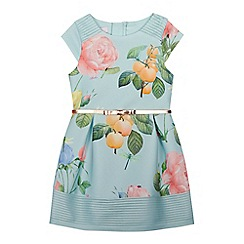 Baker by Ted Baker - Girls' pale green floral print scuba prom dress