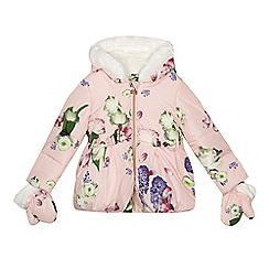 Baker by Ted Baker - 'Girls' light pink floral print coat