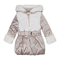 Baker by Ted Baker - Girls' Pink Faux Fur Trim Coat