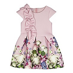 Baker by Ted Baker - Girls' light pink ruffle sash dress