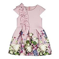 Baker by Ted Baker - Girls' light pink ruffle sash dress