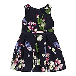 Baker by Ted Baker - 'Girls' navy floral print dress