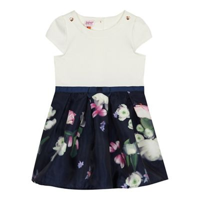 ad93f34856ad Baker by Ted Baker -  Girls  navy floral print dress