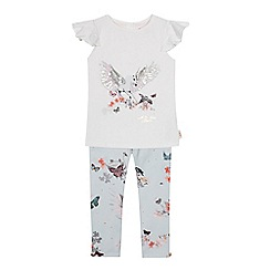 Baker by Ted Baker - Girls' white sparkle graphic t-shirt and leggings set