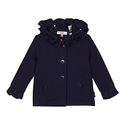 Baker by Ted Baker - Girls' navy frilled hood coat