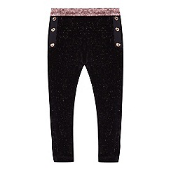 Baker by Ted Baker - 'Girls' black velvet leggings