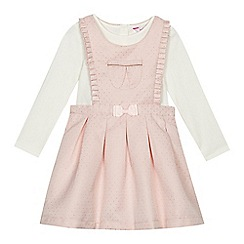 Baker by Ted Baker - Girls' pink spotted pini and top set