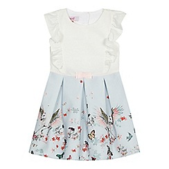 Baker by Ted Baker - 'Girls' light blue butterfly print dress