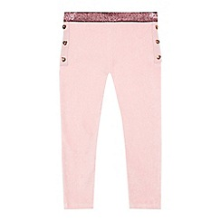 Baker by Ted Baker - 'Girls' pink velvet leggings