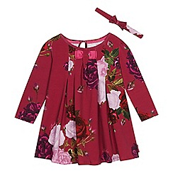 Baker by Ted Baker - Girls' dark pink jersey dress and headband set