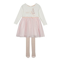 Baker by Ted Baker - Girls' off white tulle dress and glitter tights set