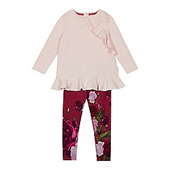 Baker by Ted Baker - Girls' pink top and floral print leggings