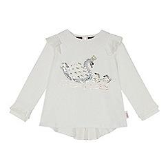 Baker by Ted Baker - Girls' white sequined swan top