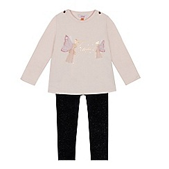 Baker by Ted Baker - Girls' light pink pleated back top and leggings set