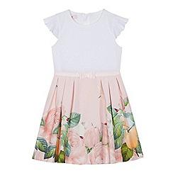 dc2f3acb7d3873 Baker by Ted Baker -  Girls  light pink garden print dress