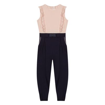 Baker By Ted Baker   Girls' Light Pink Frill Trim Jumpsuit by Baker By Ted Baker