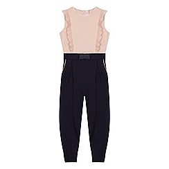 Baker by Ted Baker - Girls' light pink frill trim jumpsuit