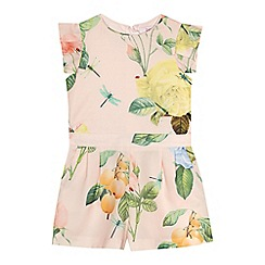 Baker by Ted Baker - 'Girls' pink floral print playsuit