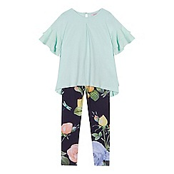 Baker by Ted Baker - 'Girls' navy floral print top and leggings set