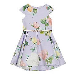 Baker by Ted Baker - Girls' lilac floral print dress