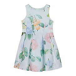 Baker by Ted Baker - 'Girls' pale green floral print dress
