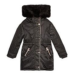 Baker by Ted Baker - Girls' black jacquard parka