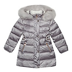 Baker by Ted Baker - Girl s silver padded down shower resistant coat