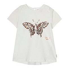Baker by Ted Baker - Girls' ivory sequinned butterfly t-shirt