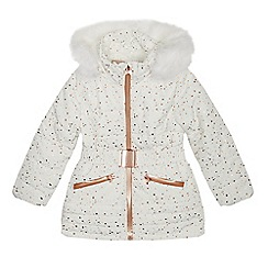 Baker by Ted Baker - Girls' Off White Foil Print Ski Jacket