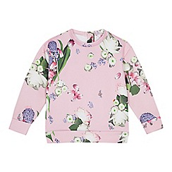 Baker by Ted Baker - Girls' pale pink floral print sweatshirt