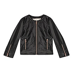 Baker by Ted Baker - Girls' black pu jacket