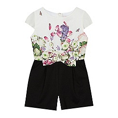 e44061d3c2d2f Baker by Ted Baker -  Girls  off white floral print playsuit