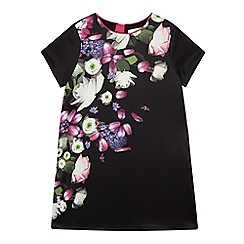 Baker by Ted Baker - Girls' black floral print shift dress