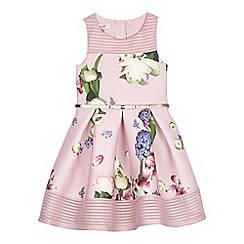 Baker by Ted Baker - Girls' light pink floral print scuba dress