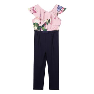 e81dfe58efc Baker by Ted Baker Girls  navy floral print jumpsuit