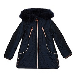 Baker by Ted Baker - 'Girl's navy parka