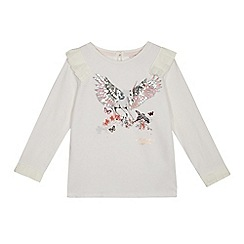 e5362c97d Baker by Ted Baker - Girls  White Sequinned Unicorn Print Top