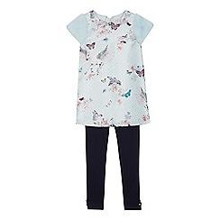 10280547c Baker by Ted Baker - Girls  light blue floral print tunic and leggings set