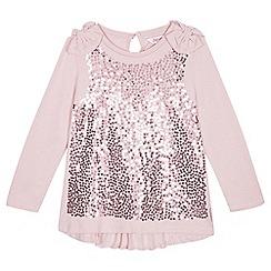 Baker by Ted Baker - Girls' light pink sequinned top
