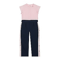 Baker by Ted Baker - Girls' Pink Frill Trim Jumpsuit