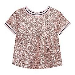 Baker by Ted Baker - Girls' Light Pink Sequin Top