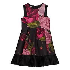 Baker by Ted Baker - Girls' black floral print prom dress