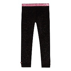 Baker by Ted Baker - Girls' black glitter velvet leggings