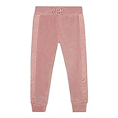 Baker by Ted Baker - Girls' pink velour joggers