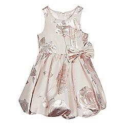 Baker by Ted Baker - Girls' light pink floral jacquard dress