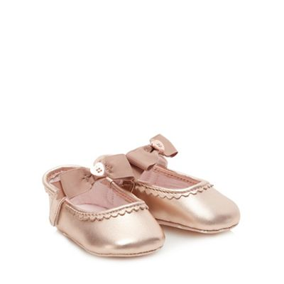 Baker By Ted Baker   Baby Girls' Light Gold Ballet Pumps by Baker By Ted Baker