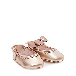 Baker by Ted Baker - Baby Girls' Light Gold Ballet Pumps